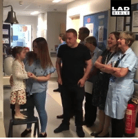 Dank, Cancer, and Proud: LAD  BIBL E 'It was Maya's turn to ring the bell after completing her cancer treatment. We're all so proud of her!' 🔔❤️