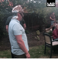 Dad, Family, and Gladiator: LAD  BIBL E 'My dad got his head stuck in a gladiator helmet at a family BBQ.' 😂😂