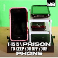 Memes, Phone, and Prison: LAD  BIBL E  THIS ISA PRISON  TO KEEP YOU OFF YOUR  PHONE Tag a phone addict! 😂
