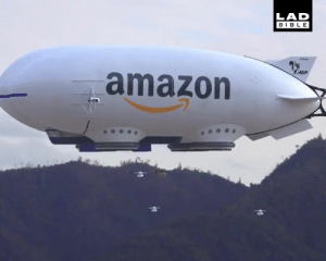 Amazon, Dank, and Bible: LAD  BIBLE  ADP  amazon This Amazon delivery blimp is like something out of a sci-fi movie 😮😳