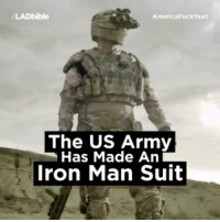 The USA army has made this powerful exoskeleton.: LAD bible  America Fuck Yeah  The US Army  Has Made An  Iron Man Suit The USA army has made this powerful exoskeleton.