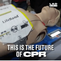 This could save so many lives 😱: LAD  BIBLE  BIBL E  LifeBand  THIS IS THE FUTURE  OF CPR This could save so many lives 😱