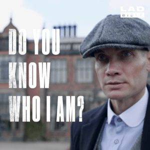Dank, Bible, and Manchester: LAD  BIBLE  DU TOU  KHOW  WHO I AM? Scott Blower is a 47-year-old gardener from Manchester. He also looks just like a certain Tommy Shelby. Now he works all over the place as a  lookalike, by order of the Peaky Blinders 👊