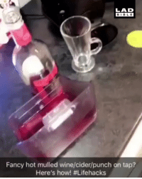 Christmas, Memes, and Wine: LAD  BIBLE  Fancy hot mulled wine/cider/punch on tap?  Here's how Lifehacks If you fancy hot mulled wine or cider this Christmas, here is a simple hack...