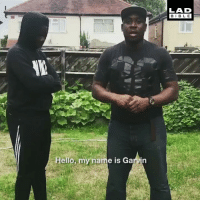 Dad, Hello, and Memes: LAD  BIBLE  Hello, my  ame is Garvin This Dad teaching his son how to defend himself against knives is the most important video you'll see today, make sure everyone sees it! 👏🏻 (TW-Garvinsnell)