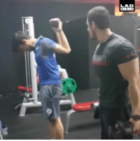 Dank, I Bet, and Bible: LAD  BIBLE I bet you've never seen a bicep curl quite like this before... 👀😱