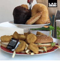 Dank, Bible, and 🤖: LAD  BIBLE  mBAREQUE Now that's my kind of afternoon tea 😍🍟