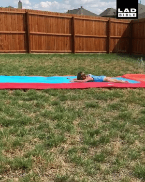 Dank, Bible, and Quite: LAD  BIBLE 'My daughter hasn't quite mastered the slip 'n' slide yet' 😂😂