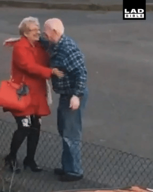 Dank, Bible, and Wife: LAD  BIBLE 'My elderly neighbour greets his wife like this every day...' 😂