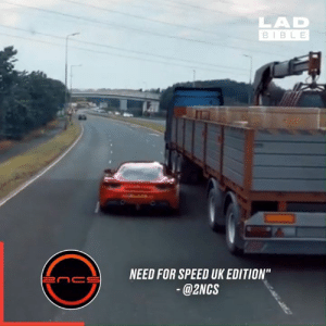 """That's one way to escape the police... 😱🚨: LAD  BIBLE  NEED FOR SPEED UK EDITION""""  enc  @2NCS That's one way to escape the police... 😱🚨"""