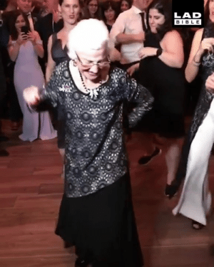 'So proud of my nan, even at 96 she's always the first one on the dance floor' 💃👏: LAD  BIBLE 'So proud of my nan, even at 96 she's always the first one on the dance floor' 💃👏