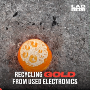 One man's trash is another man's treasure 👏  Archimedes Channel: LAD  BIBLE  SOUND ON  RECYCLING GOLD  FROM USED ELECTRONICS One man's trash is another man's treasure 👏  Archimedes Channel
