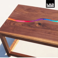 Beautiful, Dank, and Bible: LAD  BIBLE The river carved through this table is made from melted crayons and looks beautiful 😍