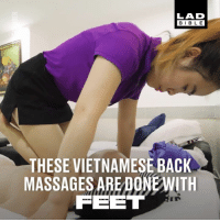 Barber, Dank, and Bible: LAD  BIBLE  THESE VIETNAMESE BACK  MASSAGES ARE DONEWITH  FEET I need to have this done to me 😍😍  ASMR Barber