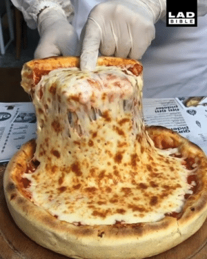 This is a pretty unique way of making a pizza... but I love it 😍: LAD  BIBLE This is a pretty unique way of making a pizza... but I love it 😍