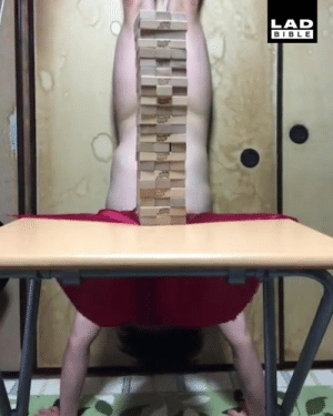 Dank, Family, and Bible: LAD  BIBLE This is one way to spice up family Jenga night 😂😂