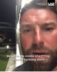 Dank, Bible, and Lightning: LAD  BIBLE  We are in the middle of a f***ing  massive lightning storm This guy managed to capture an incredible lightning storm on video, his reaction is hilarious! 😱⚡