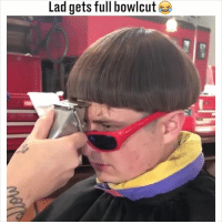Memes, 🤖, and Who: Lad gets full bowlcut Tag a mate who would suit this... 😂😂 (@olivertree)