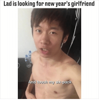 Memes, Girlfriend, and 🤖: Lad is looking for new year's girlfriend  And touch my six-pack TAG his girlfriend 😂👇 (@timstarstory)