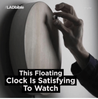 Clock, Memes, and Watch: LADbible  This Floating  Clock is Satisfying  To Watch  lyte This minimalist clock is awesome