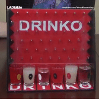 Memes, 🤖, and Wreckless: LADbible  YouTube.com/Wrecklesseating  DRINKO The perfect way to start the party ����🍻