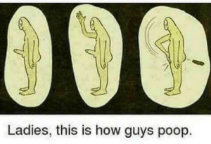 Dank, Memes, and Poop: Ladies, this is how guys poop. Dont tell the ladies, guys. by Lots42 MORE MEMES