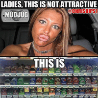 Memes, 🤖, and Portable: LADIES, THISIS NOT ATTRACTIVE  OCHRISDIPS1  portable spittoons  THIS IS  WOLr  WOLT  WOLT  WOLI 🦆😂 mudjug dip30 packdipspit photo by @chrisdips1