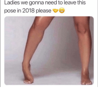 Funny, Lmao, and This: Ladies we gonna need to leave this  pose in 2018 please  | Tag this female lmao
