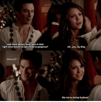 5.05 • Damon now reminds me of Henry VIII and Jack The Ripper bc of the costumes that he's worn lmao • Q:Would you rather date Stefan or Damon?: Lady Anne Boleyn. Now, who in their  right mind would cut off a head so gorgeous?  Uh...you, my King.  My not-so-loving husband. 5.05 • Damon now reminds me of Henry VIII and Jack The Ripper bc of the costumes that he's worn lmao • Q:Would you rather date Stefan or Damon?