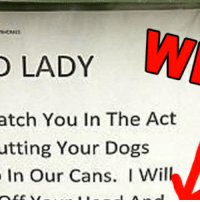 Atche: LADY  atch You In The Act  utting Your Dogs  In Our Cans. I Wil