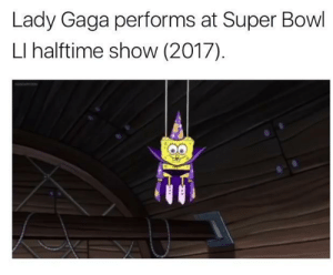 Lady Gaga for her second Super Bowl appearance, 2017: Lady Gaga performs at Super Bowl  LI halftime show (2017)  ให้ Lady Gaga for her second Super Bowl appearance, 2017