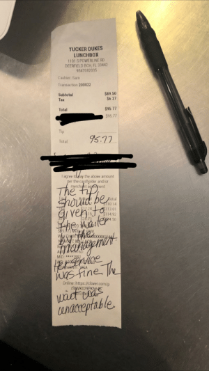 Lady left me 0 dollars and complained to the manager that the food took to long to come out of the kitchen. Told the manager there was no problem with the service but would still not be tipping me to prove a point to management/the owner ??????: Lady left me 0 dollars and complained to the manager that the food took to long to come out of the kitchen. Told the manager there was no problem with the service but would still not be tipping me to prove a point to management/the owner ??????