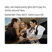 i just want to sleep but i have another soccer game soon rip: lady: we heard pretty girls don't pay for  drinks around here  bartender: they don't. here's your bill  drgrayfang  ettyimage i just want to sleep but i have another soccer game soon rip