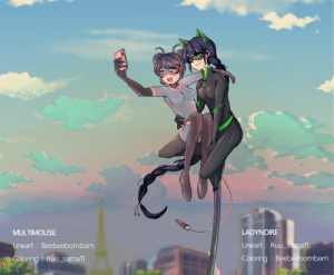 beebeebombam:    Multimouse & Ladynoirecollaboration with @kuu-sama11: LADYNOIRE  MULTIMOUSE  Lineart: Kuu_sama11  Lineart: Beebeebombam  Coloring : Beebeebombam  Coloring Kuu_sama11 beebeebombam:    Multimouse & Ladynoirecollaboration with @kuu-sama11