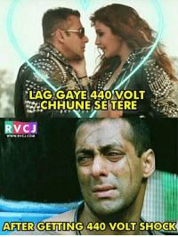 Memes, Hilarious, and 🤖: LAG GAYE 440 VOLT  CHHUNE SE TERE  RVCJ  WWW.RVCJ.COM  AFTER GETTING 44O VOLT SHOCK This is hilarious!