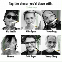 Miley Cyrus, Rihanna, and Seth Rogen: lag the stoner you'd blaze with.  dank stop  Miley Cyrus  Snoop Dogg  Wiz Khalifa  Rihanna  Seth Rogen  Tommy Chong 🎉The homies @dankstop are doing a giveaway🎉 🛑Rules:📋 1.) Follow @dankstop 2.) Like this photo 3.) Tag which artist you would blaze with in the comments below. 💨 🔻 🔻 👉🏼@wizkhalifa 👈🏼 👉🏼 @mileycyrus 👈🏼 👉🏼 @snoopdogg 👈🏼 👉🏼 @badgalriri 👈🏼 👉🏼 @sethrogen 👈🏼 👉🏼 @heytommychong 👈🏼 🔻 ⭐️There will be 50 winners! You have 24hrs, Go! 🤑✌🏼 🚦 DANKSTOP.com