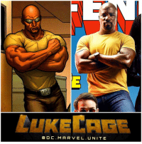 Hype, Memes, and 🤖: LAKE CAG  DC. MARVEL. UNITE HE'S WEARING THE YELLOW SHIRT ! 😱 New image of LukeCage from TheDefenders Cover of Entertainment Weekly ! Comic Accurate AF ! Comment your Thoughts ! MCU HYPE ! MarvelCinematicUniverse 💥