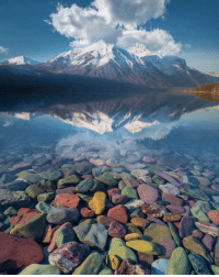 Beautiful, Water, and McDonald: Lake Mcdonald has such a beautiful view and clear water