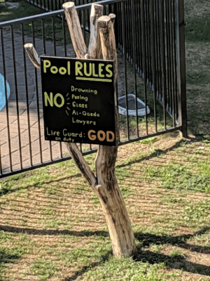 Lake Taupo, New Zealand-Hostel Pool Rules. The safest Pool in all of Middle Earth.: Lake Taupo, New Zealand-Hostel Pool Rules. The safest Pool in all of Middle Earth.