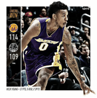 Welcome back Swaggy P: LAKERS  WIN  114  109  FINAL  NICK YOUNG 17 PTS 5REB 23PTS  @LAKERS Welcome back Swaggy P