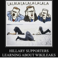 Memes, 🤖, and Watergate: LALALALALALALALALA  HILLARY SUPPORTERS  LEARNING ABOUT WIKILEAKS Watergate pales in comparison.