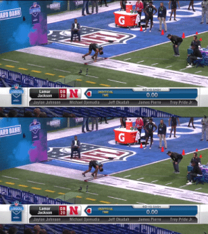 Lamar Jackson runs the 40 at the #NFLCombine 👀  @theroyal_21 | @HuskerFBNation  📺: #NFLCombine on @NFLNetwork 📱: https://t.co/vDFxxNddNZ https://t.co/g15T720xxJ: Lamar Jackson runs the 40 at the #NFLCombine 👀  @theroyal_21 | @HuskerFBNation  📺: #NFLCombine on @NFLNetwork 📱: https://t.co/vDFxxNddNZ https://t.co/g15T720xxJ