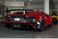 Dark Red Metallic 2016 Lamborghini Aventador LP750 SV: Lamborghini Dallas // Bill Brock Dark Red Metallic 2016 Lamborghini Aventador LP750 SV