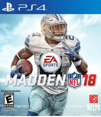 Who would cop this cover? EzekielElliott FeedZeke: lamegatranstudios  MEGATRON  ONTENT RATED BY  LESS IR IB  Online Interactions  Not Rated by the ESRB  SPORTS EP  NFL Who would cop this cover? EzekielElliott FeedZeke