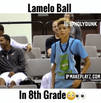 Memes, Vibrator, and 🤖: Lamelo Ball  IG CHOLYDUNK  EEMAKEPLAYZ.COM  In 8th Grade Lamelo Ball was wet in 8th grade!🏀🔥 Tag @swaggymelo1 for a follow⚪️ Song: Slander & NGTMRE GUD Vibrations VC:@makeplayz_com Follow @holydunk for more!💦