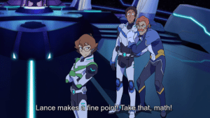 Target, Tumblr, and Blog: Lance makes a fine pointTake that, math! mustlovelance: between lance and coran, math doesn't stand a chance