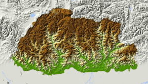 Click, Tumblr, and Blog: land-of-maps:  Elevation Map of Bhutan [1300 x 747]CLICK HERE FOR MORE MAPS!