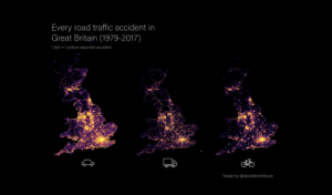 land-of-maps:  Every road traffic accident in Great Britain, split by vehicle type (OC) (x-post r/DataArt) [3045 × 1781]: land-of-maps:  Every road traffic accident in Great Britain, split by vehicle type (OC) (x-post r/DataArt) [3045 × 1781]