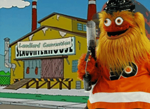 Gritty solves the rent crisis: Landlord Convention  SLAUVIITERTIV Gritty solves the rent crisis