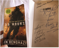 Memes, New York, and Book: lank  NOW A  MAJOR  MOTION  PICTURE  3 HOURS  THE #1 NEW YORK TIMES BESTSELLE  J3 HOURS  THE INSIDE ACCOUNT OF WHAT REALLY HAPPENED  CO  BENGHAZ  รู้ใ  TCHELL ZUCKOFF with the Annex Security Team Got my book signed by @kris_paronto_tanto & @john_tiegen now I need the rest of the team. @db_boon you are next buddy. 13Hours AwesomeSauce 🇺🇸 @battlefieldfoundation